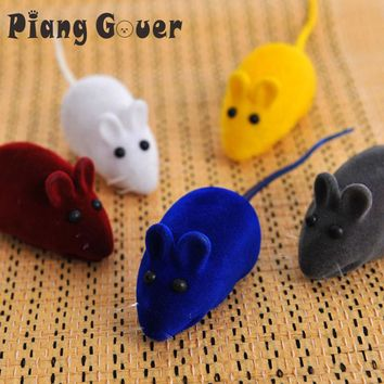Pet Supplies Mice Animal Sound Cats Toys Aid Fun Gray Mouse Cat Chew Toy For Kitten