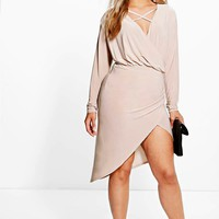 Plus Theresa Strappy Wrap Front Dress | Boohoo