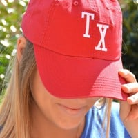 Baseball Design TX Cap - Red