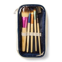 Neon and Bamboo Makeup Brush Set of 5  | Icing