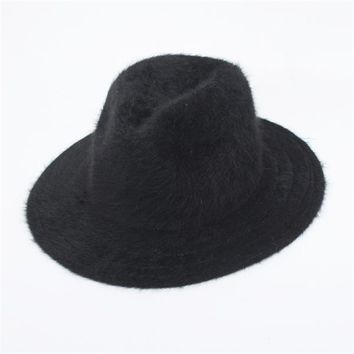Furry Fedora Hat