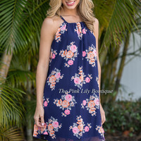 Find Your Way Dress Navy