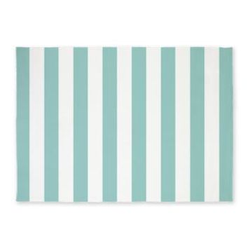 Mint Green Stripes 5'x7'area Rug> Area Rugs> Heartlocked