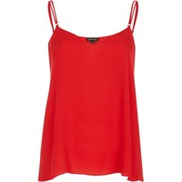Red V neck double strap cami top - cami / sleeveless tops - tops - women