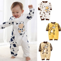 NEW Cow Newborn Girls Boys Cotton Clothes Baby Outfit Infant Romper Clothes
