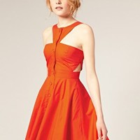 ASOS | ASOS Cut-Out Summer Dress with Low Square Back at ASOS