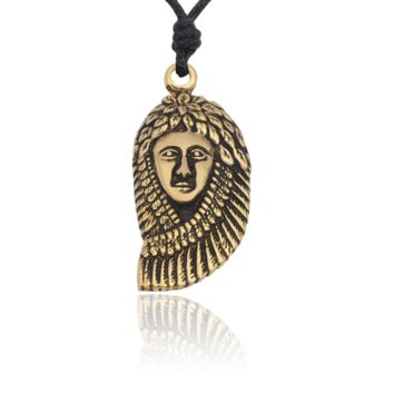 Indian Head Native American Silver Pewter Gold Brass Necklace Pendant Jewelry