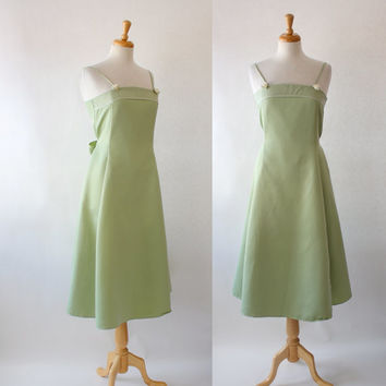 Vintage Spaghetti Strap Fit and Flare Party Dress