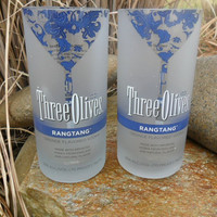 Three Olives Rangtang Tumblers  Set of 2 by BottleCrafters on Etsy