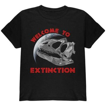 CREYCY8 Earth Day Dino Dinosaur Fossil Welcome To Extinction Youth T Shirt