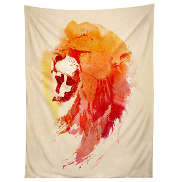 Robert Farkas Angry Lion Tapestry