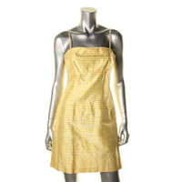 Nanette Lepore Womens Shimmer Checkered Sundress