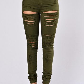 Day-First™ Roll Out Jeans - Olive