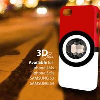 Pokeball pokemon Diamond (aj) 3D iPhone Case for iPhone 4/4S, iPhone 5/5S and,Samsung Galaxy S3, S4