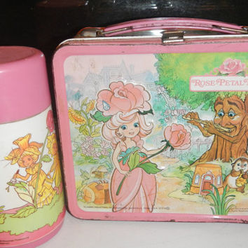 Sale! Vintage Rose Petal Place Lunchbox Lunch Box & Thermos