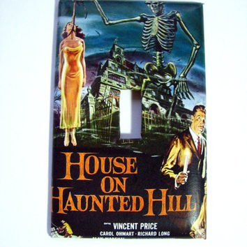 Light Switch Cover - Light Switch Plate House on Haunted Hill Vintage Movie Poster