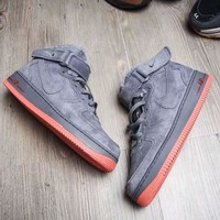 """""""NIKE"""" AIR Fashion Casual High Top Wool Running Sport Shoes Sneakers For Women Men Dark grey  G-A-YYMY-XY"""