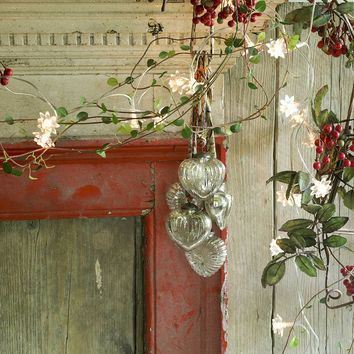 Rustic Glass Baubles