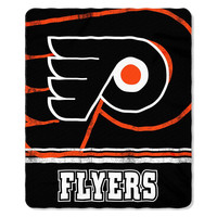 Philadelphia Flyers NHL Light Weight Fleece Blanket (Fadeaway Series) (50inx60in)