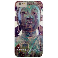 """""""Imagine"""" Quote Asian Turquoise Statue Head Photo Barely There iPhone 6 Plus Case"""