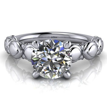 Solitaire Moissanite Engagement Ring - Ana