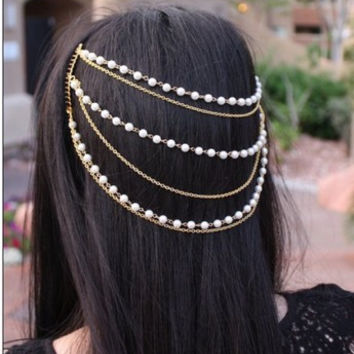 Beautiful Pearl Tassel Combs Hair Accessories