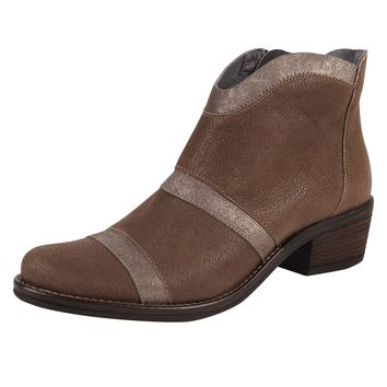 Kanna Mixed Leather Bootie