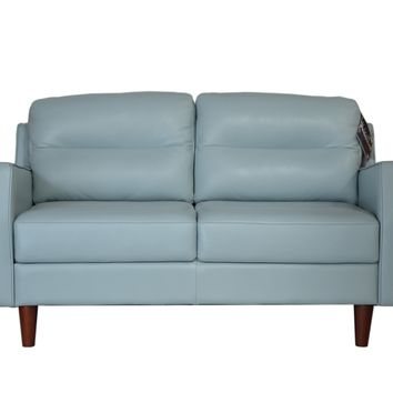 Isabel Mid-Century loveseat Bluette