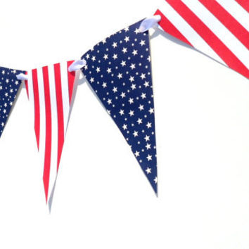 Fourth of July Bunting Paper Banner