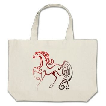 Horse Tails Large Tote Bag