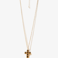 Lacquered Cross Necklace