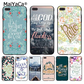 MaiYaCa Bible verse Philippians Jesus Christ Christian Coque Phone Case for Apple iPhone 8 7 6 6S Plus X 5 5S SE 5C Cover