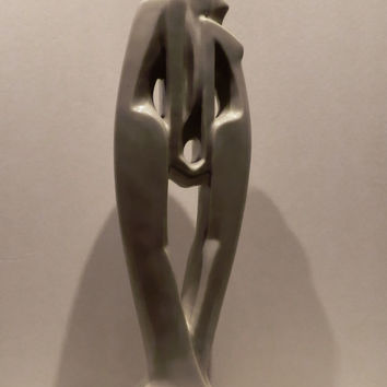Haeger Art Deco Inspired Lovers Statue