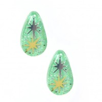 Starbrite Teardrop Green Earrings