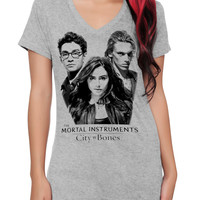 The Mortal Instruments: City Of Bones Trio Girls V-Neck T-Shirt | Hot Topic