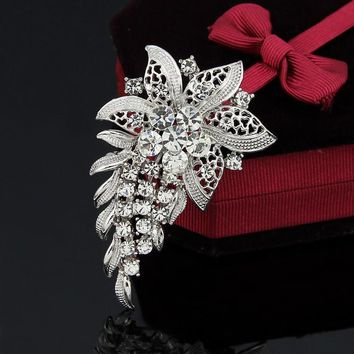 Brooches White Crystal