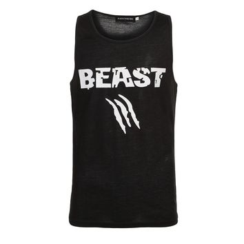 Beast Men Bodybuilding Fitness Tank Workout Tank Top