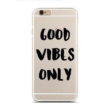Good vibes only - Positive vibes - Good lives - Super Slim - Printed Case for iPhone - SC-032