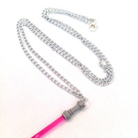 HOT PINK  Light Saber - Star Wars - Necklace