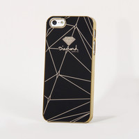 Brilliant iPhone 5 Snap Case in Black/Gold