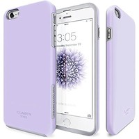 iPhone 6 Plus Case, Team Luxury_Clarity Series Purple Ultra Defender Protective Case for Apple iPhone 6 Plus / iPhone 6S Plus - Lavender/ Gray