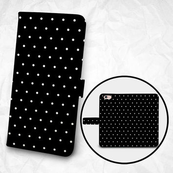 iPhone 6 6S Plus case, Samsung Galaxy S6 case, Edge case, Note 5 4 3 2 PU leather flip cover, wallet case, dots pattern (BBSP-013)