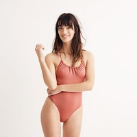 J.Crew Playa Rockaway Ruched One-Piece Swimsuit
