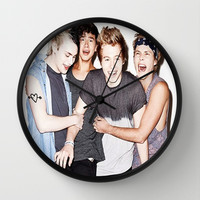 5sos slsp cover Wall Clock by kikabarros