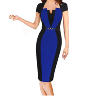 Colorblock Work to play Pencil Dress