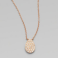 Diane Kordas - Diamond & 18K Rose Gold Teardrop Necklace - Saks Fifth Avenue Mobile