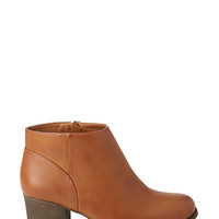 FOREVER 21 Classic Faux Leather Booties