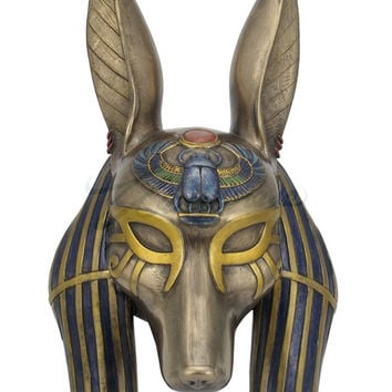 Egyptian Anubis Mask Home Decor Wall Plaque 11H