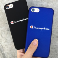 Champion hot print letter iphone case cover