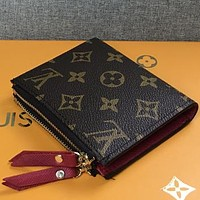 Louis Vuitton LV  Women Men Fashion Pattern Leather Purse bag